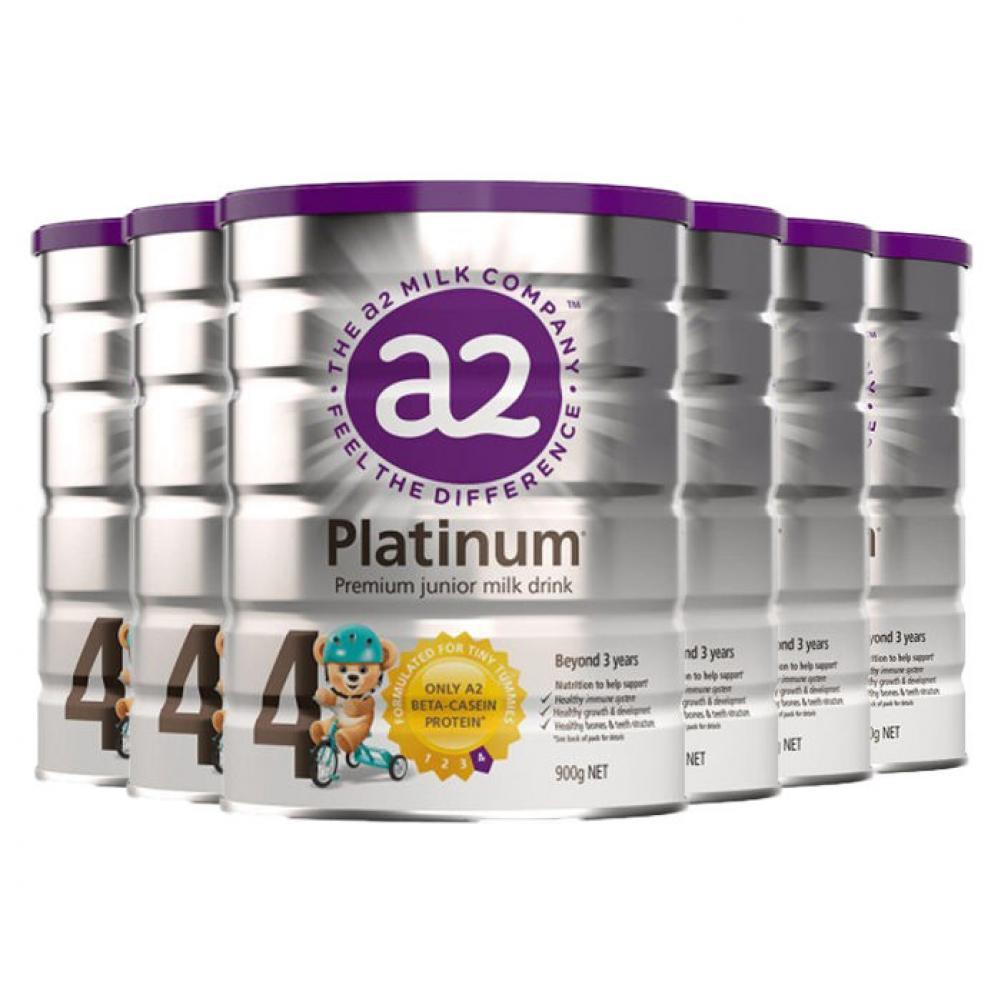 a2 Platinum 白金四段婴儿奶粉900g 一箱6罐包邮包税