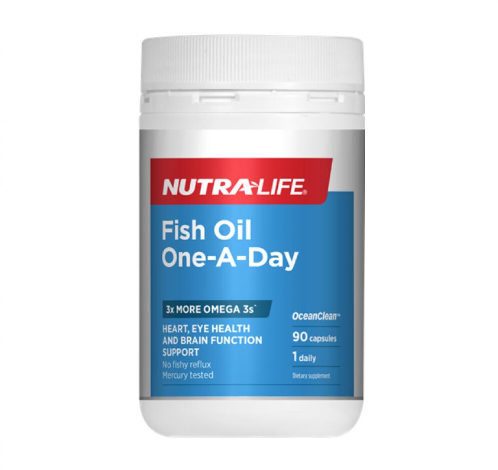 Nutralife 纽乐 鱼油浓缩无味日服型 三倍EPA&DHA含量 90粒包装