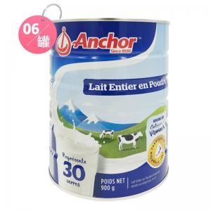 Anchor 安佳 罐装全脂奶粉 900g*6罐 包邮